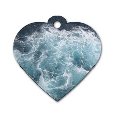 OCEAN WAVES Dog Tag Heart (One Side)
