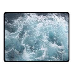 OCEAN WAVES Double Sided Fleece Blanket (Small)