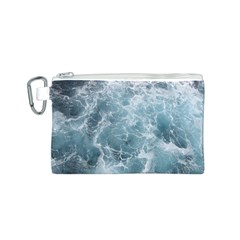 OCEAN WAVES Canvas Cosmetic Bag (S)