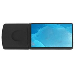 LIGHT TURQUOISE ICE USB Flash Drive Rectangular (2 GB)