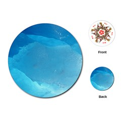 Light Turquoise Ice Playing Cards (round)