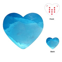 Light Turquoise Ice Playing Cards (heart)