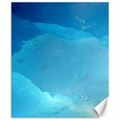 LIGHT TURQUOISE ICE Canvas 8  x 10