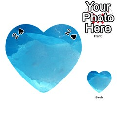 Light Turquoise Ice Playing Cards 54 (heart)