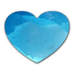 LIGHT TURQUOISE ICE Heart Mousepads