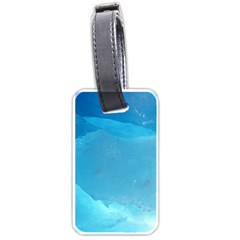 LIGHT TURQUOISE ICE Luggage Tags (Two Sides)