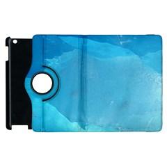 LIGHT TURQUOISE ICE Apple iPad 2 Flip 360 Case