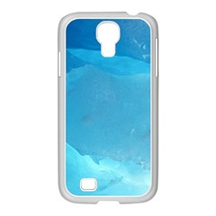 LIGHT TURQUOISE ICE Samsung GALAXY S4 I9500/ I9505 Case (White)