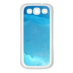 LIGHT TURQUOISE ICE Samsung Galaxy S3 Back Case (White)