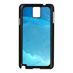 LIGHT TURQUOISE ICE Samsung Galaxy Note 3 N9005 Case (Black)