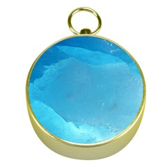 LIGHT TURQUOISE ICE Gold Compasses