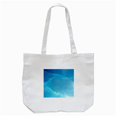 LIGHT TURQUOISE ICE Tote Bag (White)
