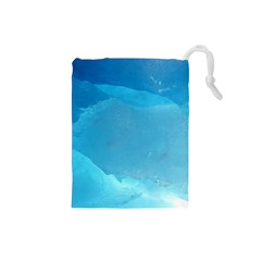LIGHT TURQUOISE ICE Drawstring Pouches (Small)