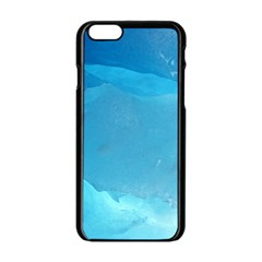 LIGHT TURQUOISE ICE Apple iPhone 6/6S Black Enamel Case