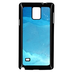 LIGHT TURQUOISE ICE Samsung Galaxy Note 4 Case (Black)