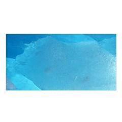 LIGHT TURQUOISE ICE Satin Shawl