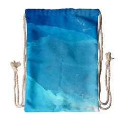 LIGHT TURQUOISE ICE Drawstring Bag (Large)