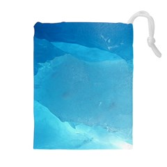 LIGHT TURQUOISE ICE Drawstring Pouches (Extra Large)