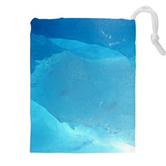LIGHT TURQUOISE ICE Drawstring Pouches (XXL)