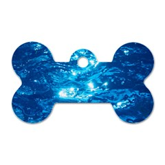 LIGHT ON WATER Dog Tag Bone (Two Sides)