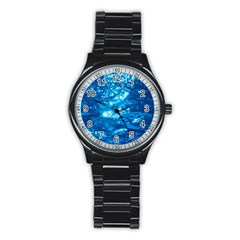 LIGHT ON WATER Stainless Steel Round Watches