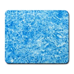 BLUE ICE CRYSTALS Large Mousepads