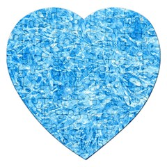 BLUE ICE CRYSTALS Jigsaw Puzzle (Heart)