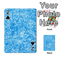 Blue Ice Crystals Playing Cards 54 Designs