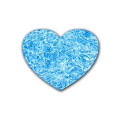 BLUE ICE CRYSTALS Heart Coaster (4 pack)