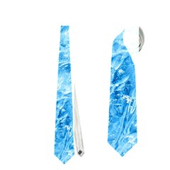 Blue Ice Crystals Neckties (one Side)