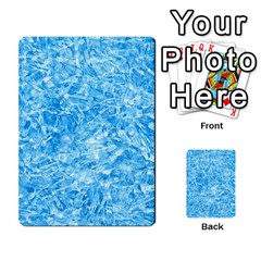 Blue Ice Crystals Multi Purpose Cards (rectangle)