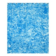 Blue Ice Crystals Shower Curtain 60  X 72  (medium)