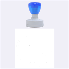 BLUE ICE CRYSTALS Rubber Round Stamps (Large)