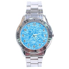 BLUE ICE CRYSTALS Stainless Steel Men s Watch