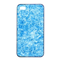 BLUE ICE CRYSTALS Apple iPhone 4/4s Seamless Case (Black)