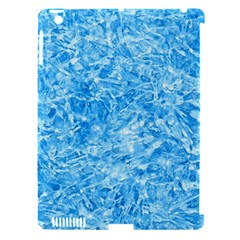 BLUE ICE CRYSTALS Apple iPad 3/4 Hardshell Case (Compatible with Smart Cover)