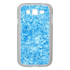 BLUE ICE CRYSTALS Samsung Galaxy Grand DUOS I9082 Case (White)