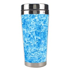 BLUE ICE CRYSTALS Stainless Steel Travel Tumblers