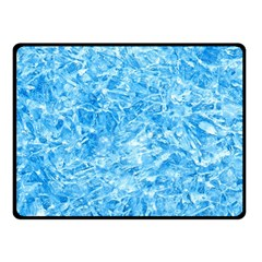 Blue Ice Crystals Double Sided Fleece Blanket (small)