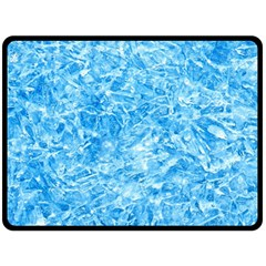 Blue Ice Crystals Double Sided Fleece Blanket (large)