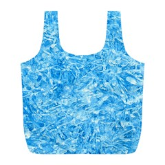 BLUE ICE CRYSTALS Full Print Recycle Bags (L)