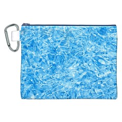 BLUE ICE CRYSTALS Canvas Cosmetic Bag (XXL)