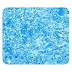 BLUE ICE CRYSTALS Double Sided Flano Blanket (Small)