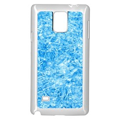 Blue Ice Crystals Samsung Galaxy Note 4 Case (white)