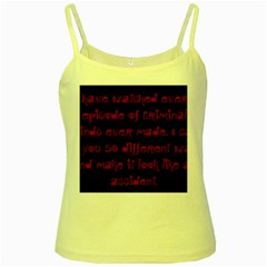 I ve Watched Enough Criminal Minds Yellow Spaghetti Tanks