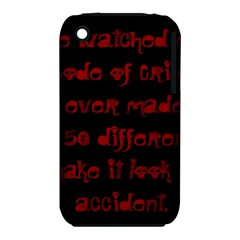 I ve Watched Enough Criminal Minds Apple iPhone 3G/3GS Hardshell Case (PC+Silicone)