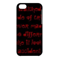 I ve Watched Enough Criminal Minds Apple iPhone 5C Hardshell Case