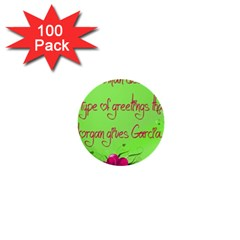 Garcia s Greetings 1  Mini Buttons (100 pack)
