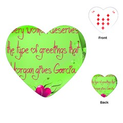 Garcia s Greetings Playing Cards (heart)