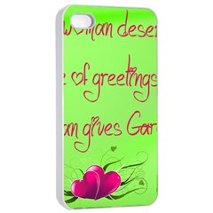 Garcia s Greetings Apple iPhone 4/4s Seamless Case (White)